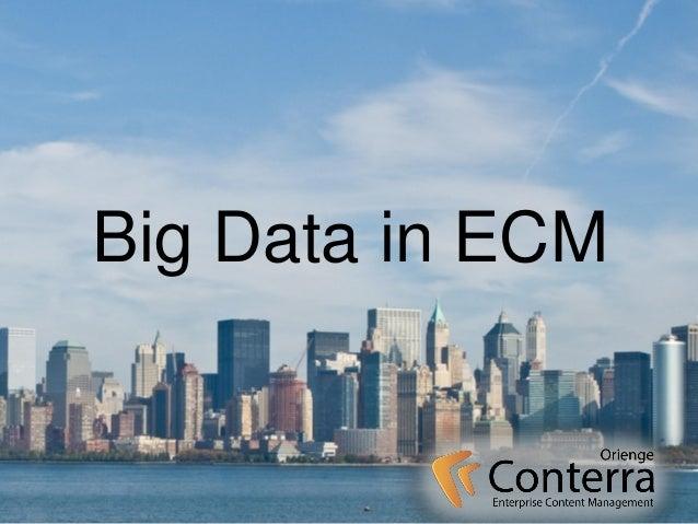 Big Data in ECM