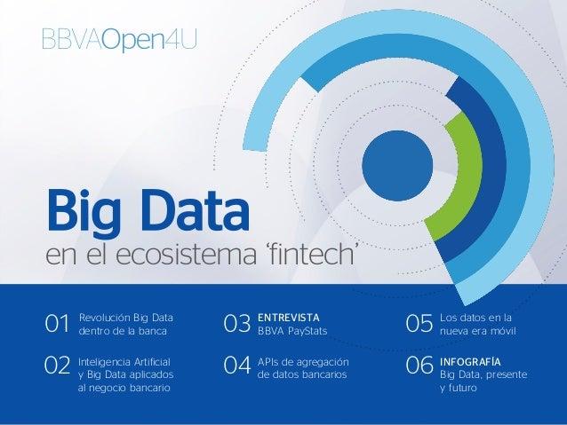 Big Data en el ecosistema 'fintech' INFOGRAFÍA Big Data, presente y futuro 06 Revolución Big Data dentro de la banca01 Int...