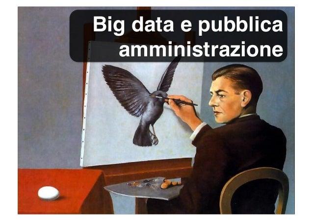 Big data e pubblica amministrazione
