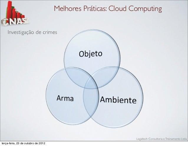 Melhores Práticas: Cloud Computing    Investigação de crimes                                                              ...