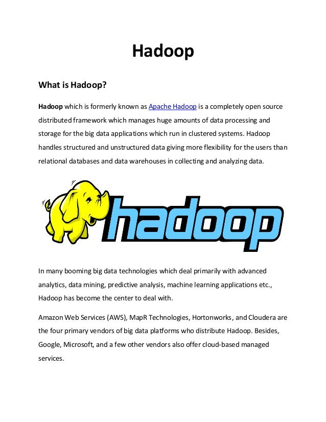 Big Data Hadoop and its real time applications pdf – IQ