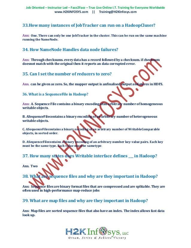 Hadoop interview questions in usa