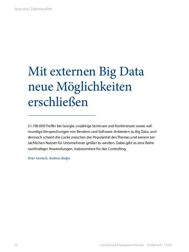 Mit externen Big Data neue Möglichkeiten erschließen 51.700.000 Treffer bei Google, unzählige Seminare und Konferenzen sow...