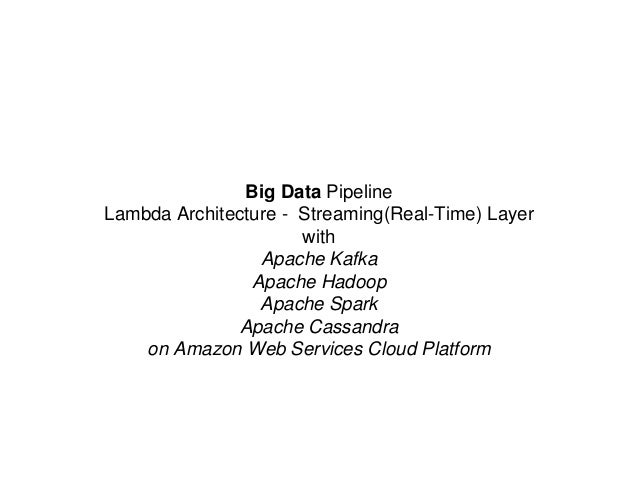Big Data Pipeline Lambda Architecture - Streaming(Real-Time) Layer with Apache Kafka Apache Hadoop Apache Spark Apache Cas...