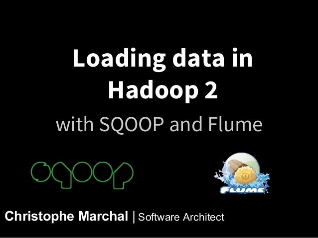 Loading data in Hadoop 2 with SQOOP and Flume  Christophe Marchal | Software Architect