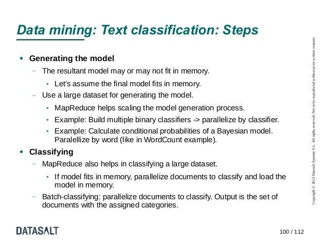 Data mining: Text classification: Steps                                                                                   ...