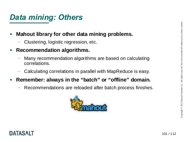 Data mining: Others                                                                                   Copyright © 2012 Dat...