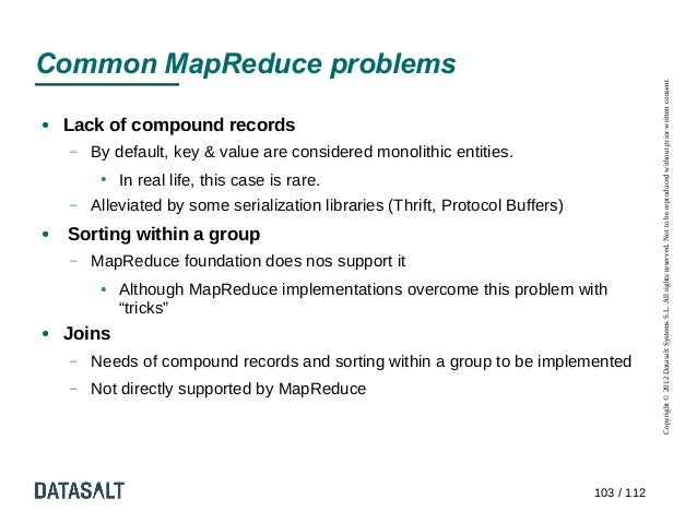 Common MapReduce problems                                                                                            Copyr...