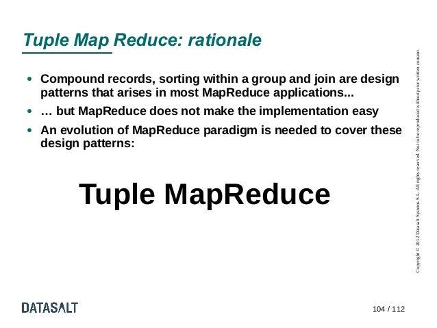 Tuple Map Reduce: rationale                                                                       Copyright © 2012 Datasal...