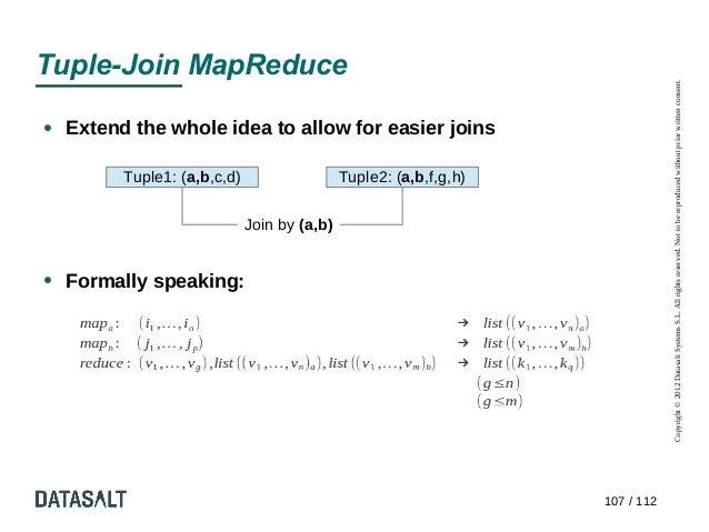 Tuple-Join MapReduce                                                                                Copyright © 2012 Datas...