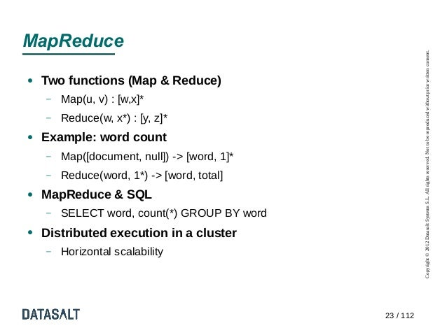 MapReduce                                                         Copyright © 2012 Datasalt Systems S.L. All rights reserv...
