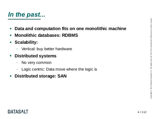 In the past...                                                                    Copyright © 2012 Datasalt Systems S.L. A...