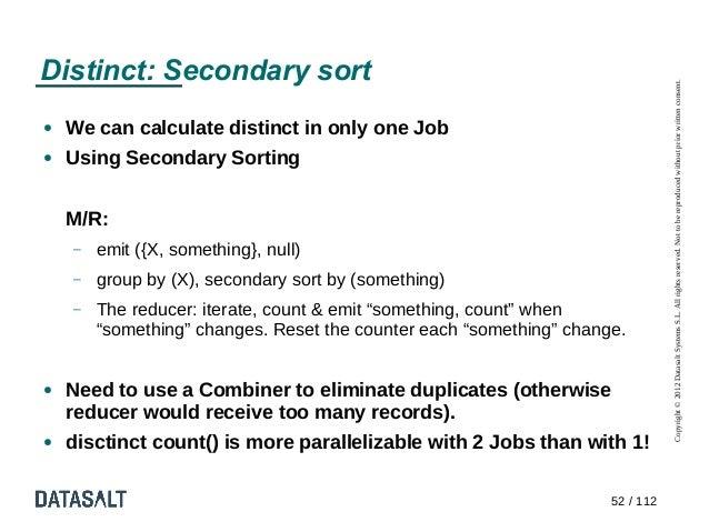 Distinct: Secondary sort                                                                                Copyright © 2012 D...