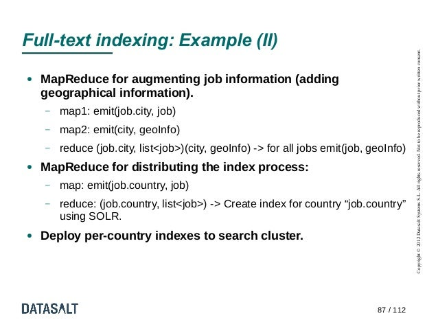 Full-text indexing: Example (II)                                                                                          ...