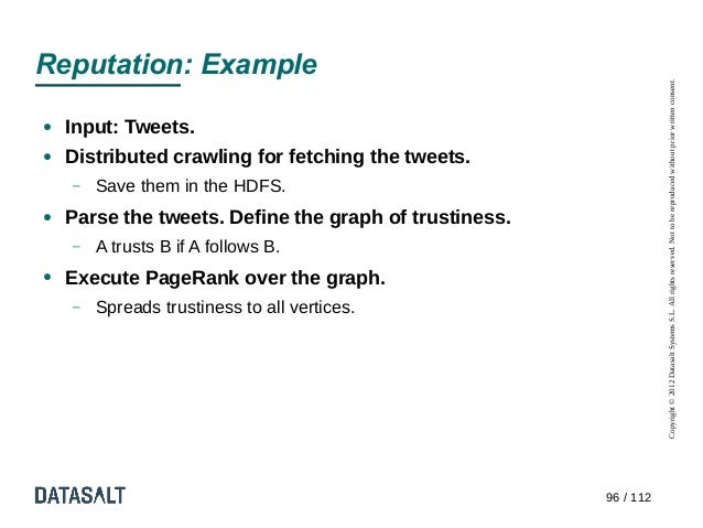Reputation: Example                                                                   Copyright © 2012 Datasalt Systems S....