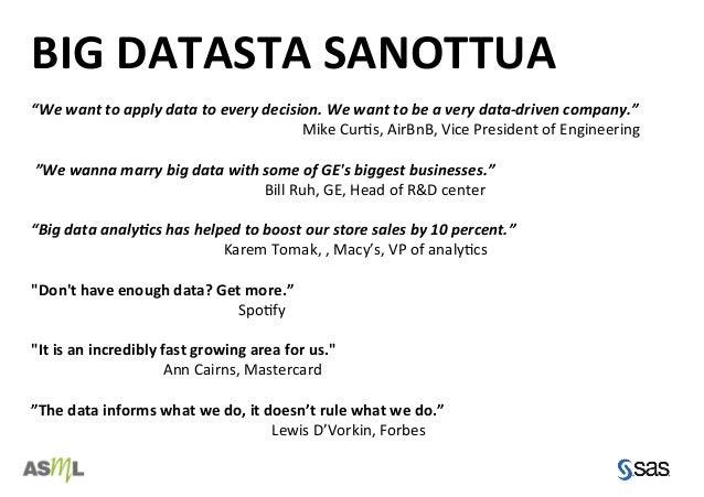 Big data mita se on 10 casea Slide 3
