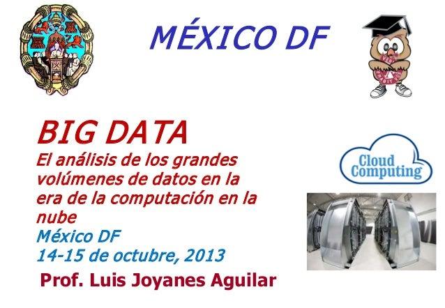 M ÉXI CO DF BI G DATA  El análisis de los grandes volúm enes de datos en la era de la com putación en la nube M éx ico DF ...