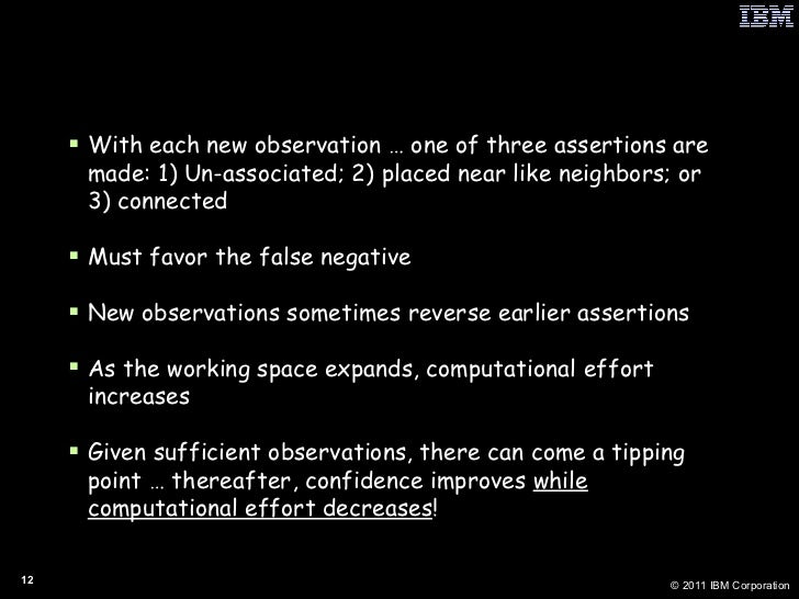 How Context Accumulates <ul><li>With each new observation … one of three assertions are made: 1) Un-associated; 2) placed ...