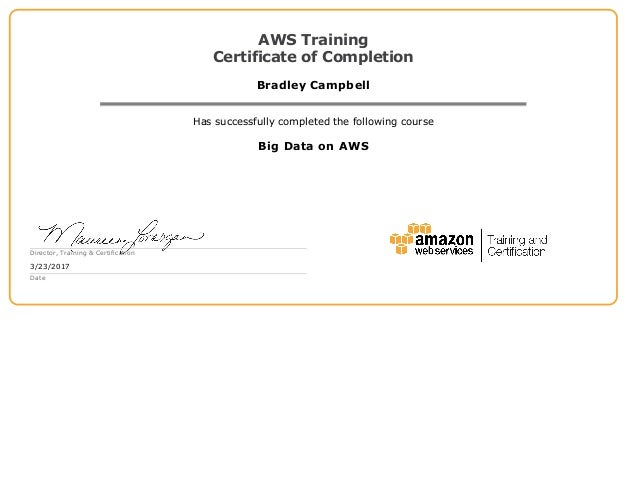 big data on aws certificate