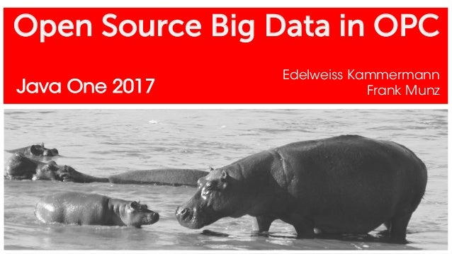 Open Source Big Data in OPC Edelweiss Kammermann Frank MunzJava One 2017