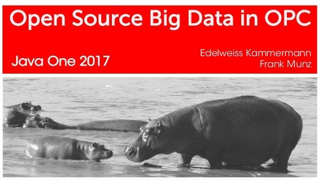 Open Source Big Data in OPC Edelweiss Kammermann Frank MunzJava One 2017