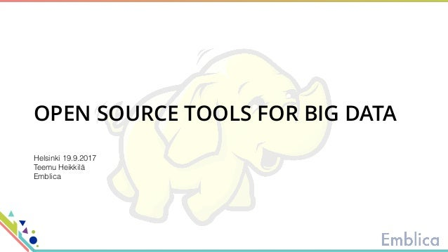 Open Source Tools for Big Data