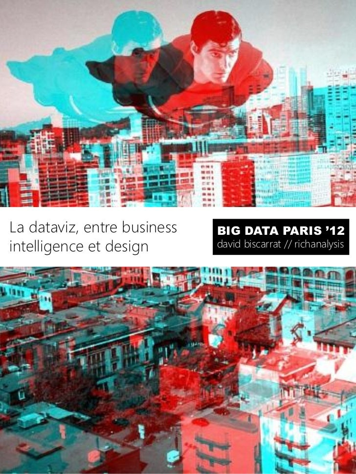 La dataviz, entre business   BIG DATA PARIS '12intelligence et design       david biscarrat // richanalysis
