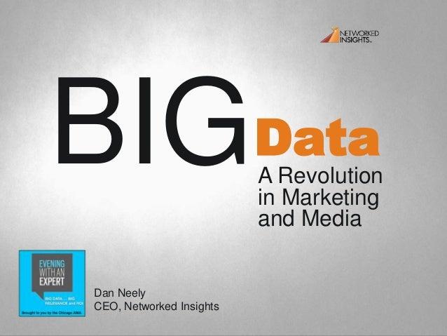DataBIGA Revolutionin Marketingand MediaDan NeelyCEO, Networked Insights