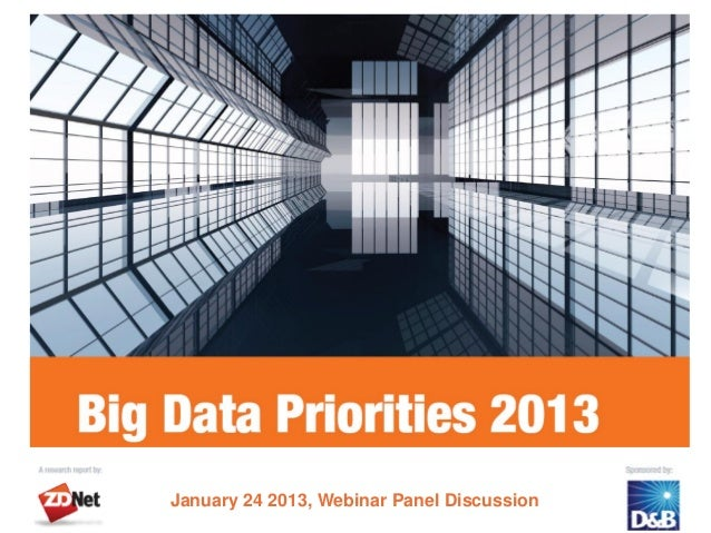 January 24 2013, Webinar Panel Discussion