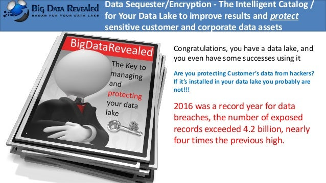 Data Sequester/Encryption - The Intelligent Catalog / for Your Data Lake to improve results and protect sensitive customer...