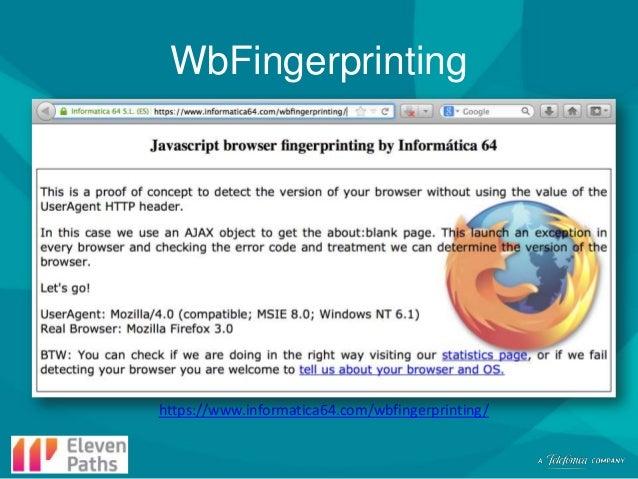 WbFingerprinting  https://www.informatica64.com/wbfingerprinting/