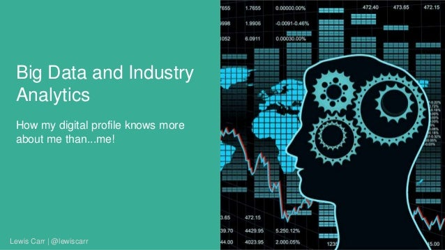 Big Data and Industry Analytics How my digital profile knows more about me than...me! Lewis Carr | @lewiscarr