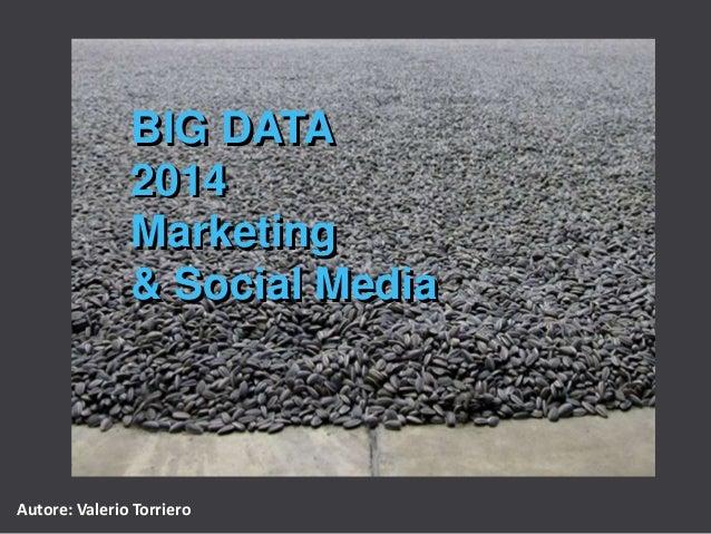 BIG DATA 2014 Marketing & Social Media  Autore: Valerio Torriero