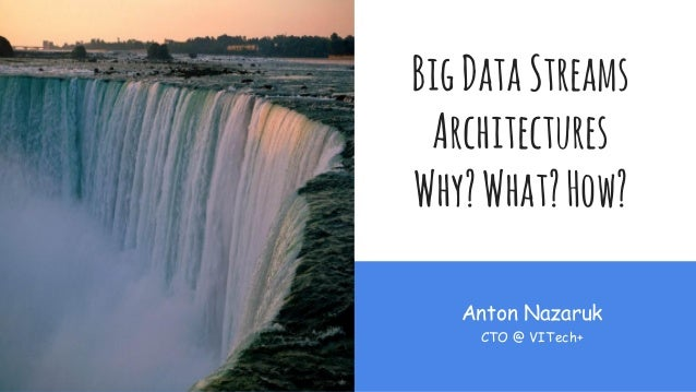 BigDataStreams Architectures Why?What?How? Anton Nazaruk CTO @ VITech+