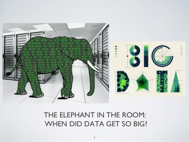 1THE ELEPHANT IN THE ROOM:WHEN DID DATA GET SO BIG?