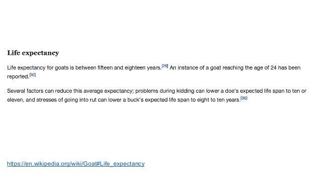 https://en.wikipedia.org/wiki/Goat#Life_expectancy