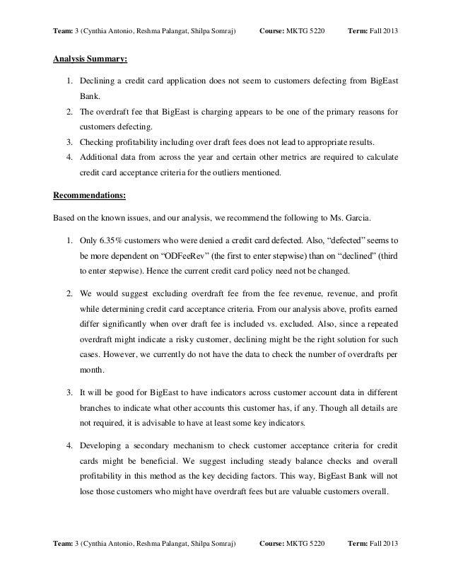 Team: 3 (Cynthia Antonio, Reshma Palangat, Shilpa Somraj)  Course: MKTG 5220  Term: Fall 2013  Analysis Summary: 1. Declin...
