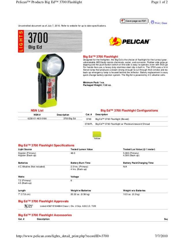 Pelican™ Products Big Ed™ 3700 Flashlight                                                                                 ...