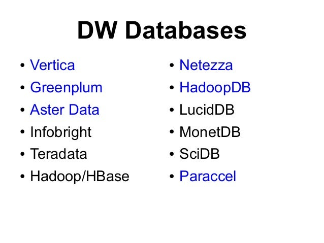 System Properties Comparison Oracle vs. OrigoDB vs. Teradata
