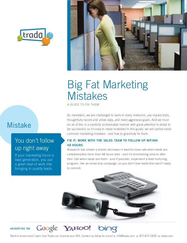 Big Fat Marketing                                               Mistakes                                               A G...