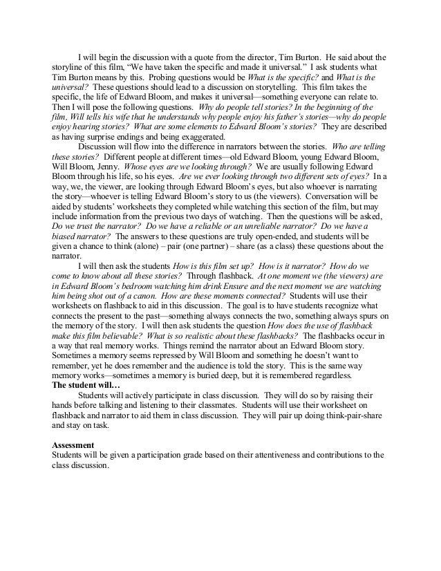 big fish jpg essay about tim burton