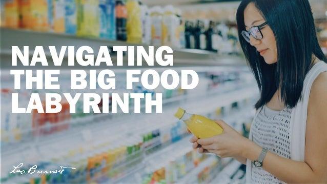 NAVIGATING THE BIG FOOD LABYRINTH
