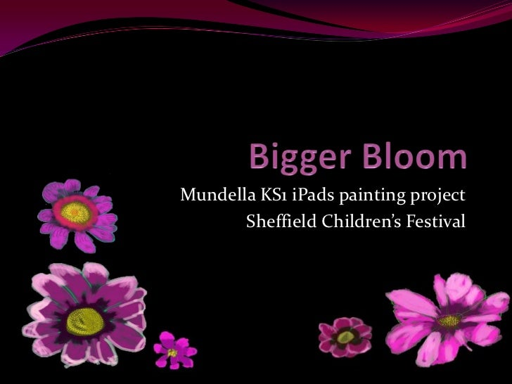 Mundella KS1 iPads painting project       Sheffield Children's Festival