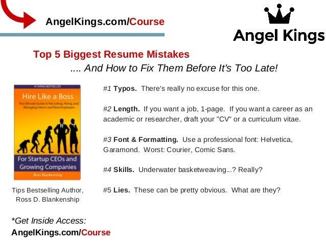 Top 5 Biggest Resume Mistakes .