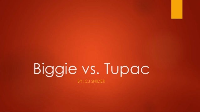Biggie vs. Tupac  BY: CJ SNIDER