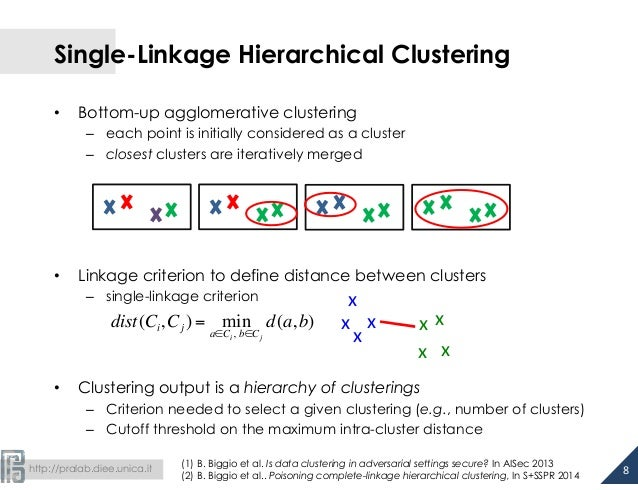 Single-Linkage Hierarchical Clustering  • Bottom-up agglomerative clustering  – each point is initially considered as a cl...