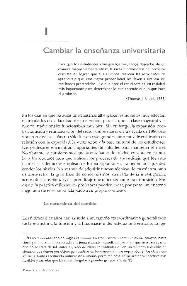 Biggs Cap. i. Cambiar la enseñanza universitaria pp. 18 a 27