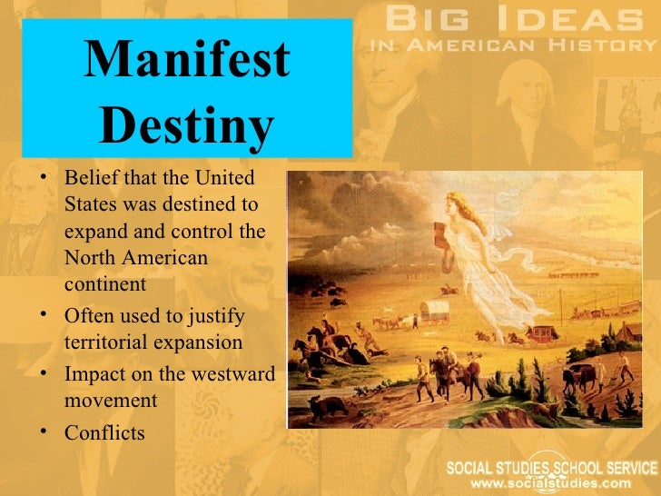 john osullivans impact with manifest destiny in 1845 Story of the irish in barbados reading  britain's cover-up of its 1845-1850  this is best used in an introduction to westward expansion or manifest destiny.