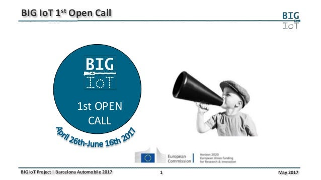 1 May 2017BIG IoT Project | Barcelona Automobile 2017 BIG IoT 1st Open Call 1st OPEN CALL