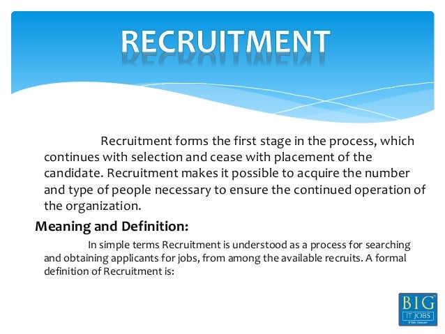 Recruitment selection process in mobilink - Research paper